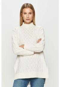 Biały sweter TALLY WEIJL z długim rękawem, długi, casualowy