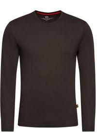 Czarna koszulka z długim rękawem Alpha Industries