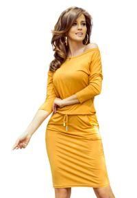 Pomarańczowa sukienka Numoco sportowa, sportowa #1