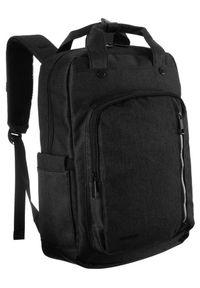 DAVID JONES - Miejski plecak unisex czarny David Jones PC036 BLACK. Kolor: czarny. Materiał: materiał