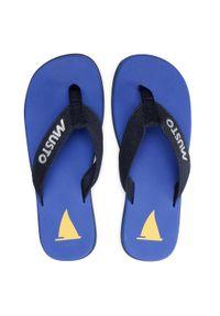 Musto - Japonki MUSTO - Nautic Sandal 82031 Ultra Marine 581. Kolor: niebieski. Materiał: materiał. Szerokość cholewki: normalna. Sezon: lato