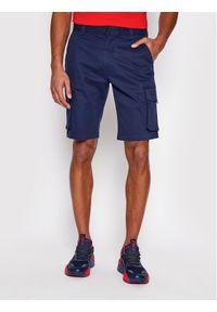 Tommy Jeans Szorty materiałowe Washed Cargo DM0DM11078 Granatowy Regular Fit. Kolor: niebieski. Materiał: materiał