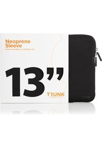 Czarne etui na laptopa Trunk