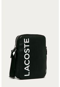 Czarna torba Lacoste z nadrukiem