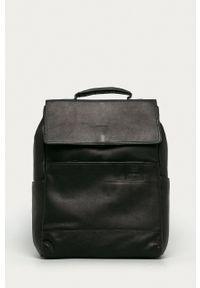 Strellson - Plecak skórzany. Kolor: czarny. Materiał: skóra
