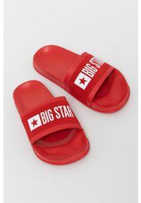 Big-Star - Big Star - Klapki. Kolor: czerwony. Materiał: materiał