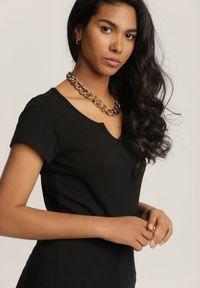 Renee - Czarny T-shirt Petomeine. Kolor: czarny