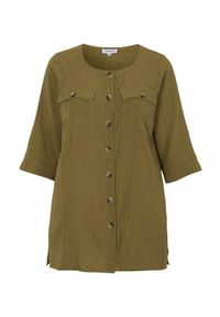 Zhenzi Koszula Lumi oliwkowy female zielony 46/48 (M). Kolor: zielony. Materiał: tkanina. Styl: elegancki