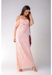 Różowa sukienka wizytowa Nommo maxi