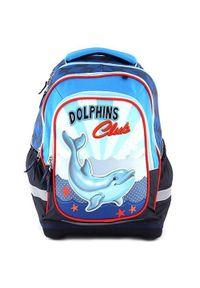 Target Docelowy plecak szkolny, Klub Delfinów, kolor niebieski. Kolor: niebieski