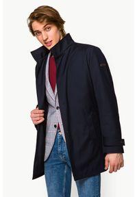 Niebieska kurtka Lancerto na jesień, klasyczna, ze stójką, krótka