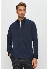 Niebieska koszula Clean Cut Copenhagen z klasycznym kołnierzykiem, casualowa, długa