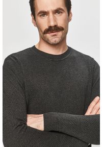 Czarny sweter Tom Tailor Denim casualowy, na co dzień