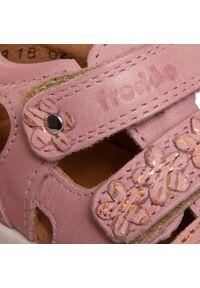 Różowe sandały Froddo z aplikacjami, na lato