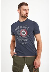 T-shirt Aeronautica Militare elegancki, w kolorowe wzory