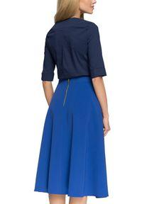 Style - Elegancka rozkloszowana spódnica midi. Okazja: na co dzień. Materiał: materiał. Wzór: gładki. Styl: elegancki