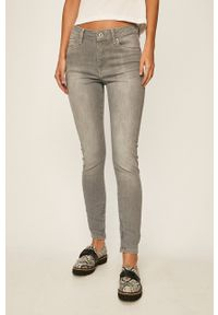 Pepe Jeans - Jeansy Cher High. Kolor: szary