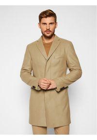 Brązowy płaszcz przejściowy