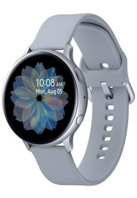Srebrny zegarek SAMSUNG militarny, smartwatch