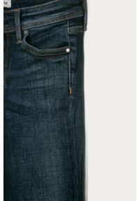 Niebieskie jeansy Pepe Jeans z podwyższonym stanem, w kolorowe wzory