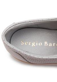 Białe półbuty Sergio Bardi z cholewką, na płaskiej podeszwie