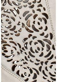 Botki Arturo Vicci z cholewką, w ażurowe wzory, na wiosnę
