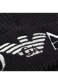 Czarna czapka Emporio Armani