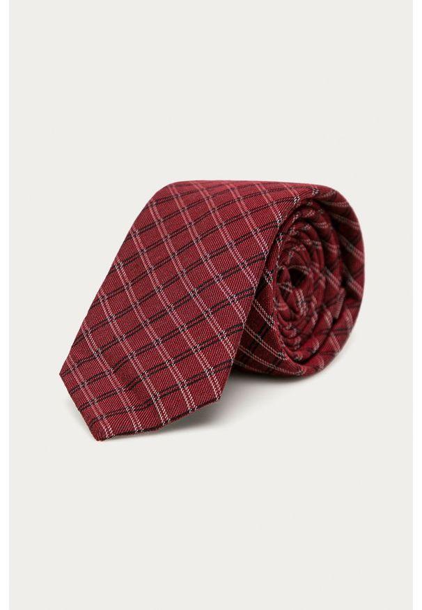 Czerwony krawat Calvin Klein