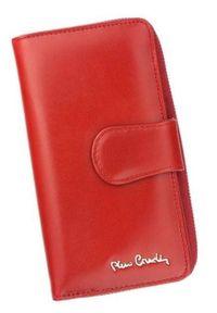 Portfel damski Pierre Cardin 01 LINE 116 CZERWONY. Kolor: czerwony. Materiał: skóra. Wzór: gładki