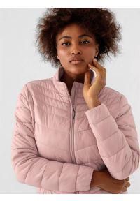 4f - Kurtka puchowa pikowana damska. Kolor: różowy. Materiał: puch