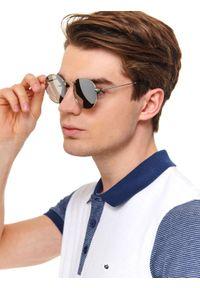 Czarne okulary przeciwsłoneczne TOP SECRET w kolorowe wzory, owalne