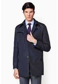 Niebieski płaszcz Lancerto elegancki, do pracy