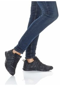 Czarne buty sportowe bonprix na co dzień, melanż