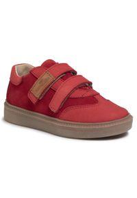 RenBut - Sneakersy RENBUT - 23-3358 Koral Led. Okazja: na co dzień. Zapięcie: rzepy. Kolor: czerwony. Materiał: skóra, nubuk, zamsz. Szerokość cholewki: normalna. Styl: casual