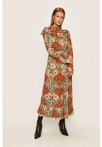 Wielokolorowa sukienka Glamorous w kwiaty, midi