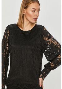 Czarna bluzka Vila elegancka, w koronkowe wzory #5