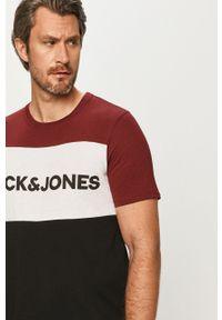 Brązowy t-shirt Jack & Jones na co dzień, casualowy
