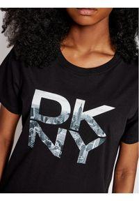 DKNY Sport T-Shirt DP1T8009 Czarny Regular Fit. Kolor: czarny. Styl: sportowy