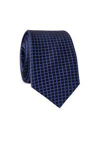 Niebieski krawat Giacomo Conti w kolorowe wzory, elegancki