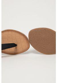 MEXX - Mexx - Sandały skórzane. Zapięcie: klamry. Kolor: czarny. Materiał: skóra. Obcas: na obcasie. Wysokość obcasa: niski