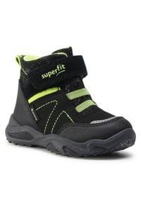 Czarne buty zimowe Superfit z cholewką