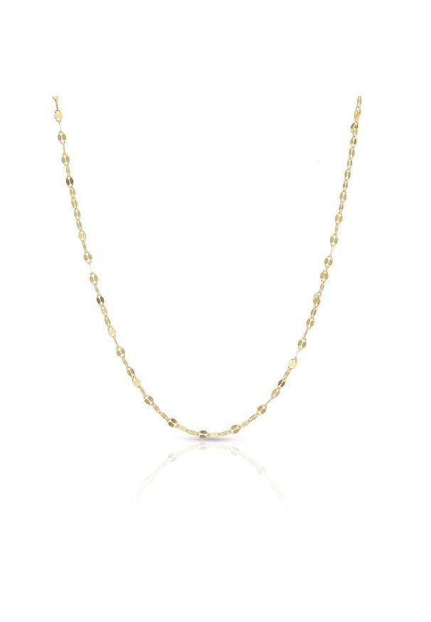 W.KRUK Złoty Łańcuszek - złoto 585 - ZUN/LG01. Materiał: złote. Kolor: złoty. Wzór: ze splotem