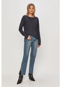Niebieski sweter Vila długi, z długim rękawem