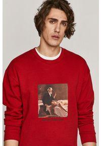 Czerwona bluza nierozpinana medicine na co dzień, z nadrukiem, bez kaptura