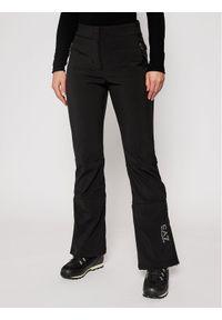 Czarne spodnie sportowe EA7 Emporio Armani narciarskie