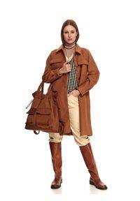 TOP SECRET - Torebka damska z funkcją plecaka. Kolor: brązowy. Sezon: jesień. Rodzaj torebki: na ramię
