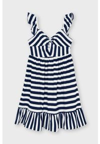 Niebieska sukienka Mayoral rozkloszowana, na ramiączkach