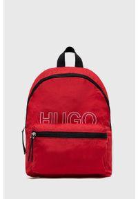 Hugo - Plecak. Kolor: czerwony. Materiał: poliester