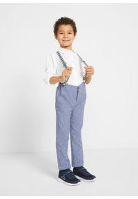 Niebieskie spodnie bonprix eleganckie, melanż