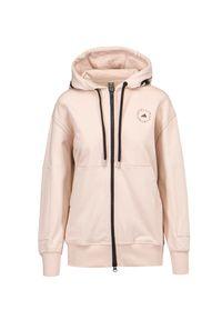 Adidas by Stella McCartney - Bluza z kapturem ADIDAS BY STELLA McCARTNEY ASMC FZ HOODY P. Typ kołnierza: kaptur. Kolor: różowy. Materiał: bawełna. Wzór: motyw zwierzęcy. Styl: sportowy